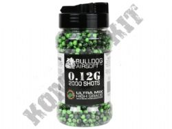 2000 x 6mm x 12g Green Black Ultra Mix Polished Airsoft BB Gun Pellets
